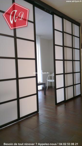 cloison japonaise et climatisation reversible pujaut rochefort du gard vaucluse. Black Bedroom Furniture Sets. Home Design Ideas